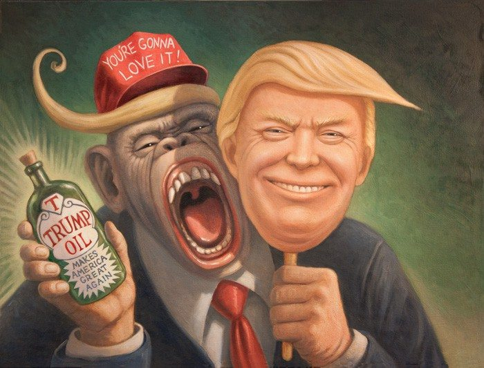 Press >> The Trumpanzee, Trump Art Caricature - Art of Mark Bryan